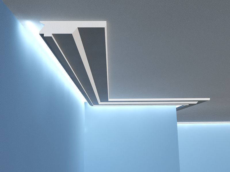 listwa sufitowa led o wietleniowa lo 13. Black Bedroom Furniture Sets. Home Design Ideas