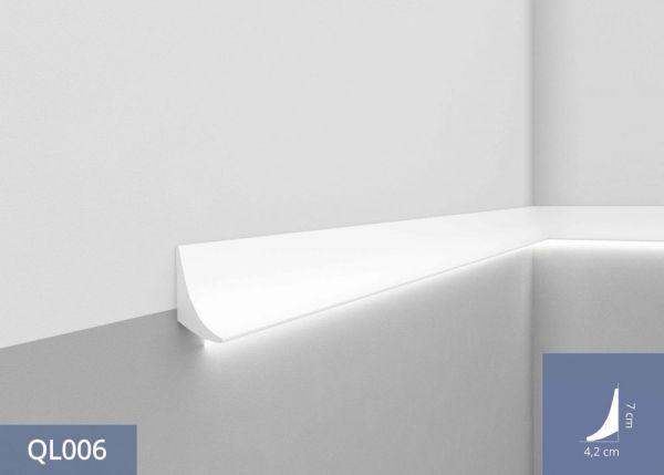 Listwa oświetleniowa przypodłogowa LED QL006 - wymiary