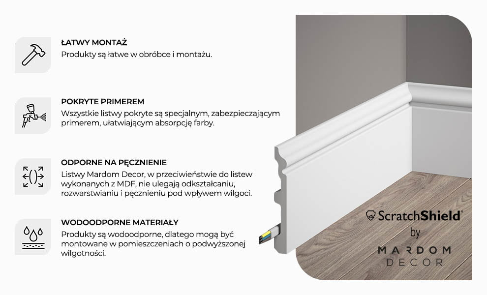 LISTWY MARDOM DECOR W NOWEJ TECHNOLOGII SCRATCH SHIELD