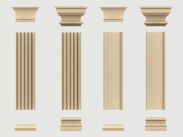 Zestawy pilastrów elewacyjnych