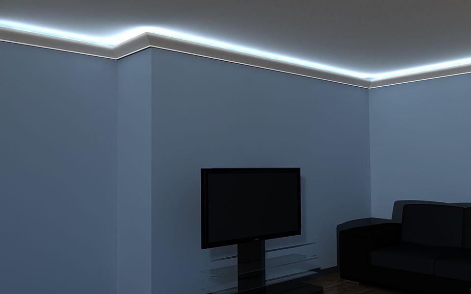 Młodzieńczy Listwa przysufitowa LED LO-6 - sztukateria przysufitowa YZ85