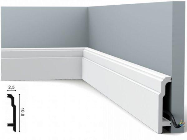 Listwa przypodłogowa SX155z duropolimeru biała