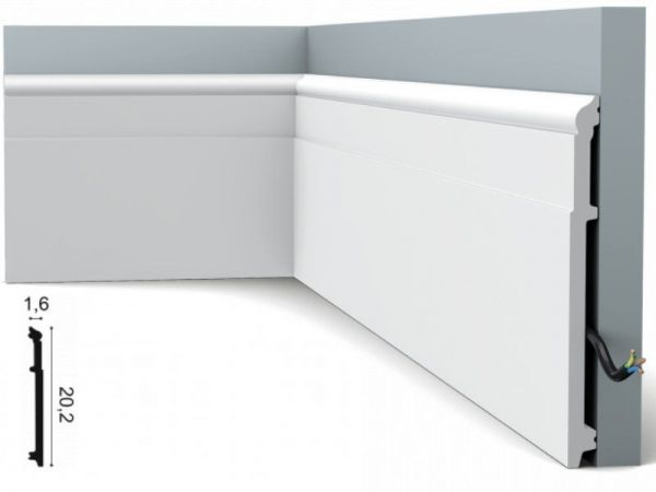 Listwa przypodłogowa SX156 orac decor biała