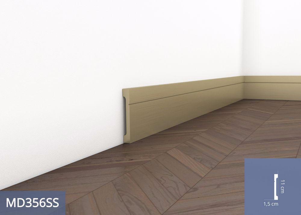 Listwa podłogowa pokryta aluminium MD356SS