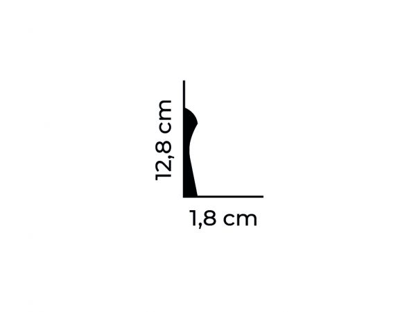 Listwa przypodłogowa QS003 z duropolimeru