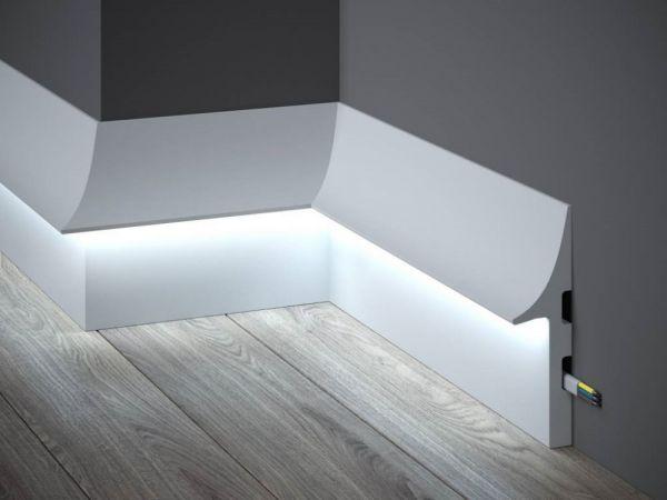 Listwa przypodłogowa z oświetleniem LED QL008 Mardom Decor