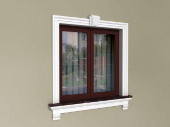 Obramowanie okien na elewacji z Zestawem klasycznym ZKL2