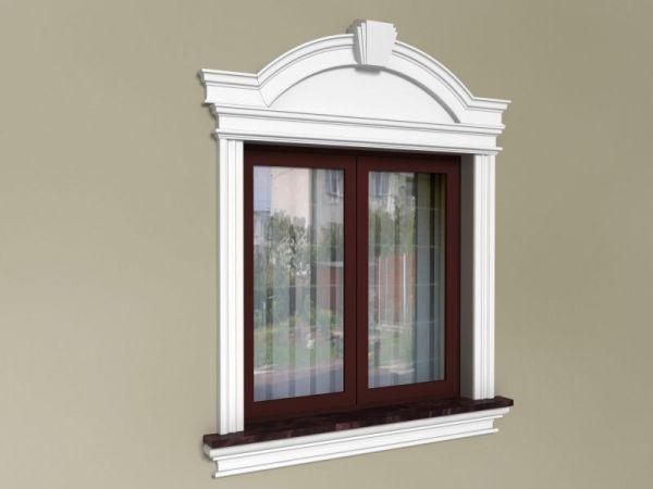 Opaska okienna ze sztukaterii - Zestaw dworkowy ZD1