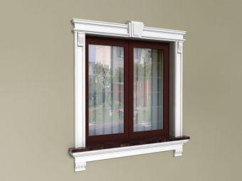 Dekoracje okna ze sztukaterii - Zestaw ZD4