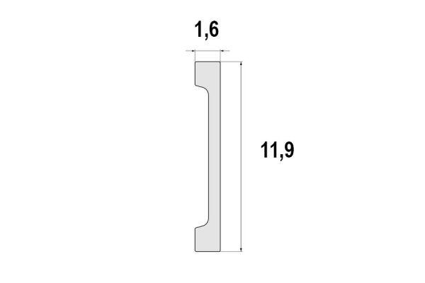 Listwa przypodłogowa poliuretanowa LPC-31