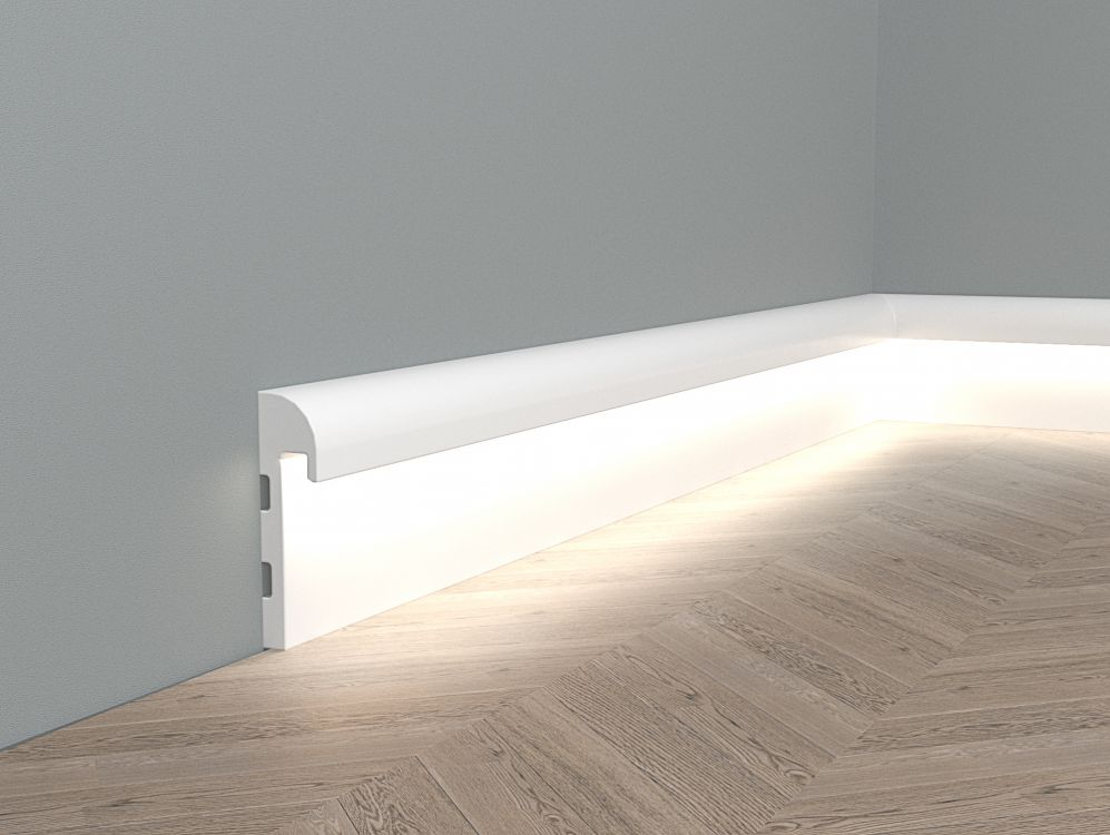 Listwa przypodłogowa z oświetleniem LED QL015 Paper