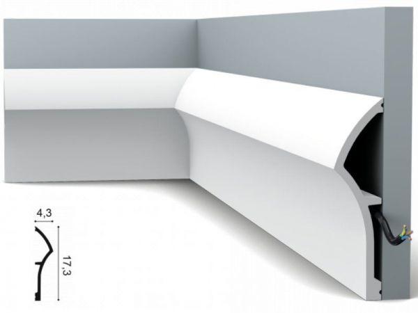 Listwa przypodłogowa biała SX167