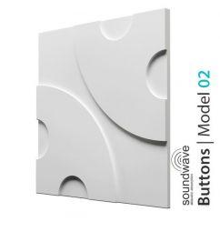 Panel dekoracyjny ścienny 3D Buttons