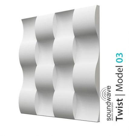 Panel ścienny do przedpokoju 3D Twist