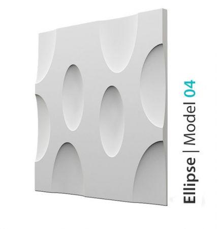 Panel Ścienny Gipsowy 3D Ellipse