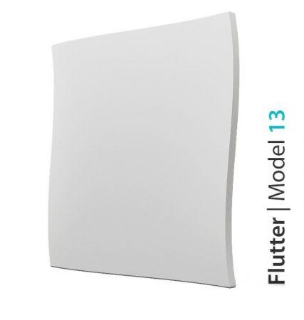 Panel Ścienny Biały 3D Flutter