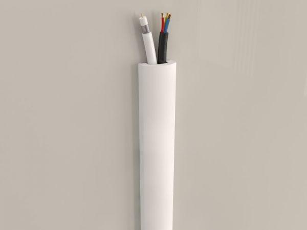 Listwa maskująca kable na ścianie LTV02 - kable