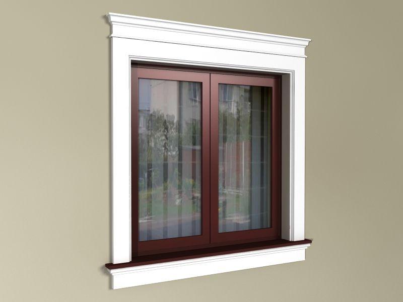 obramowanie okien na elewacji