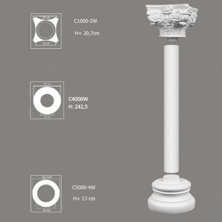 Ozdobna kolumna do wnętrz zestaw C4000W-2