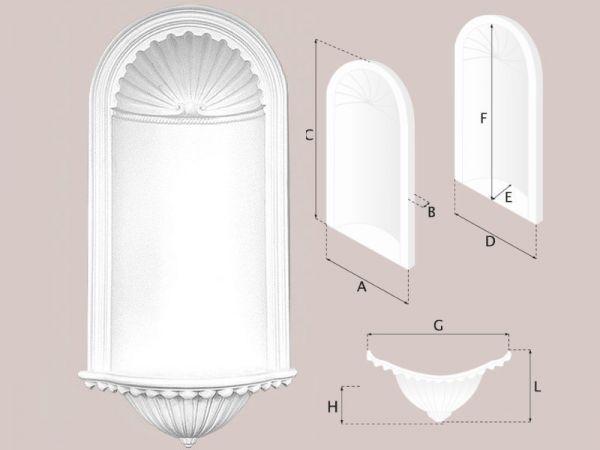 Nisza dekoracyjna Zestaw N01 + N01D