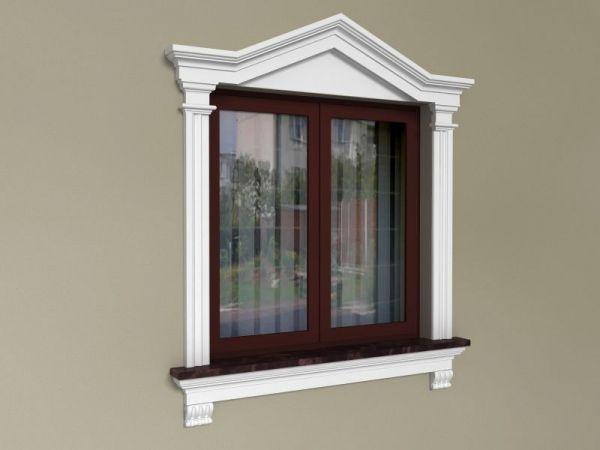 Eleganckie ramki wokół okien - Zestaw dworkowy ZD3