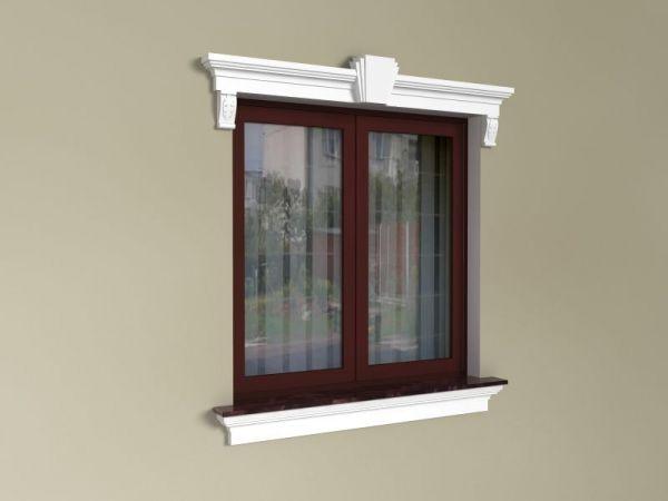 Obramówki wokół okien - Zestaw okienny w stylu angielskim ZEN1