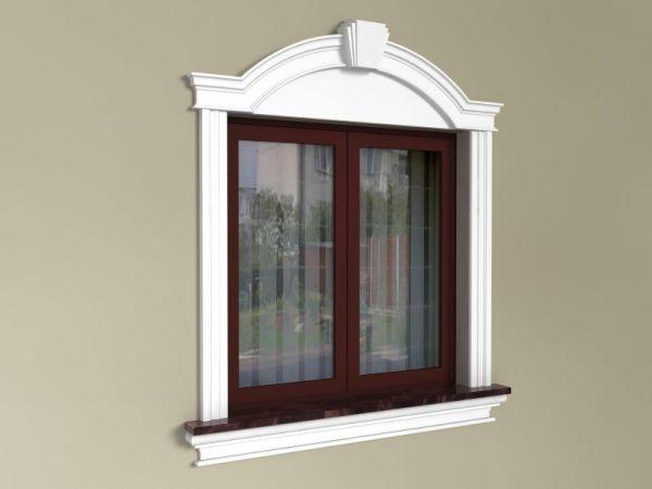 Obramowanie okien na elewacji - Zestaw okienny w stylu angielskim ZEN2