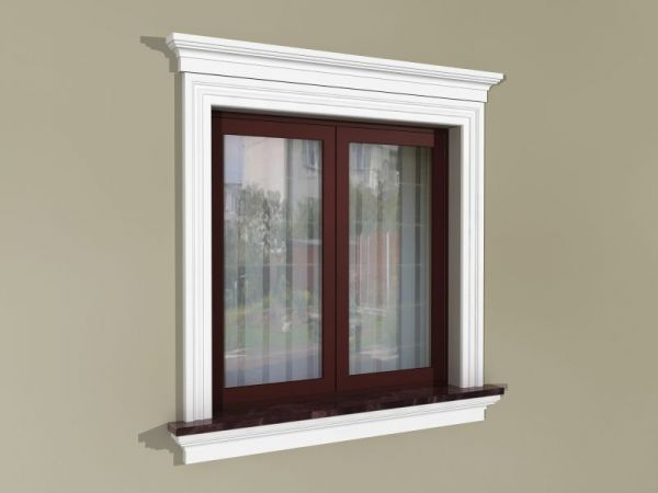 Obróbka okien na zewnątrz - Zestaw w stylu amerykańskim ZA3