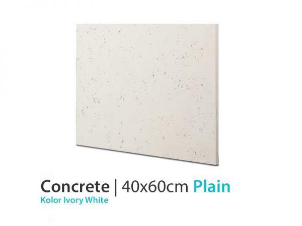 Beton architektoniczny łazienka Plain Ivory White 40x60