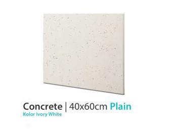 Beton Ozdobny Plain Ivory White 40x60