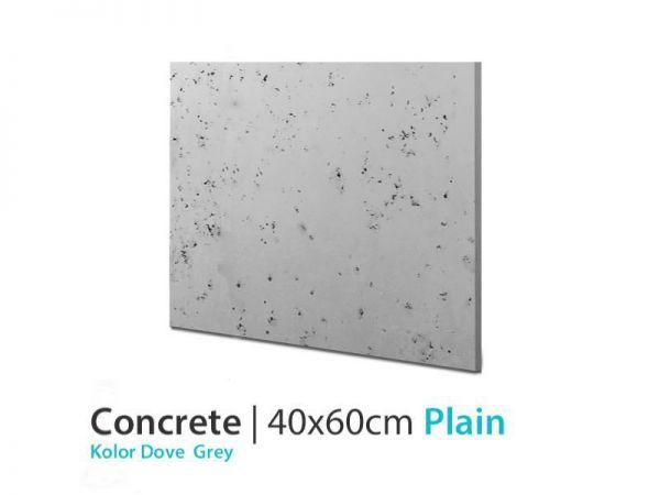 Beton architektoniczny 3d Plain Dove Grey 40x60