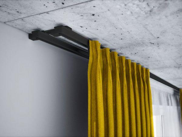 Szyna aluminiowa sufitowa dwutorowa ZS czarna