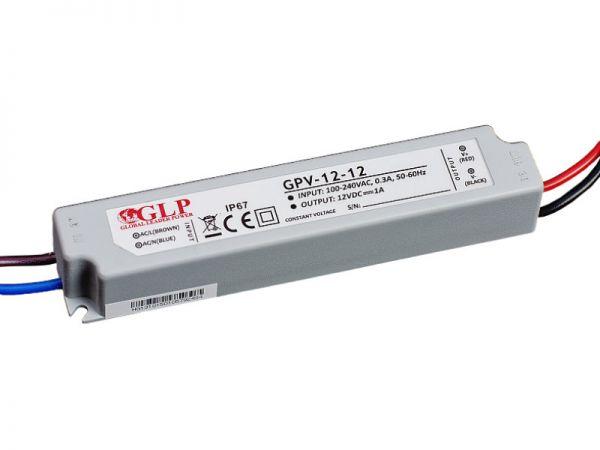 Zasilacz impulsowy wodoodporny IP 67 GPV 12V/1A 12W
