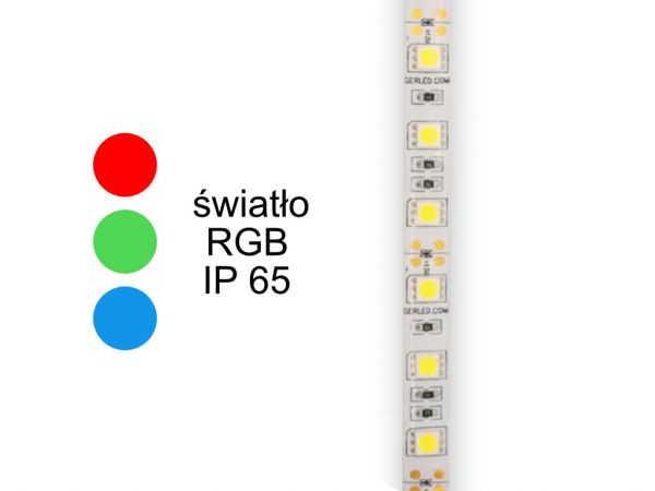 TAŚMA LED 300 RGB IP 65 SMD 5050 12V