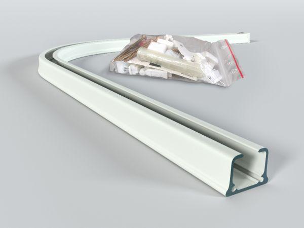 Łuk do szyny aluminiowej ZS 90 st. z kompletem montażowym BIAŁY, CZARNY, SZARY