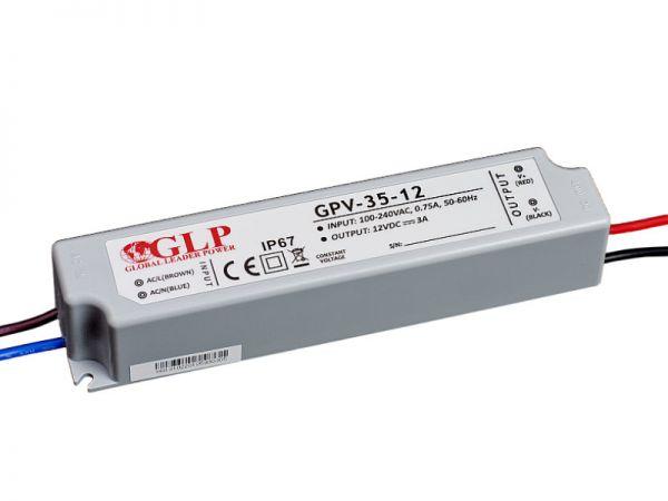 Zasilacz impulsowy wodoodporny IP 67 GPV 12V/3A 35W