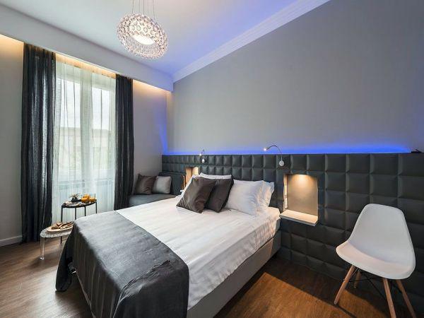 ealizacja sztukaterii w nowoczesnej sypialni