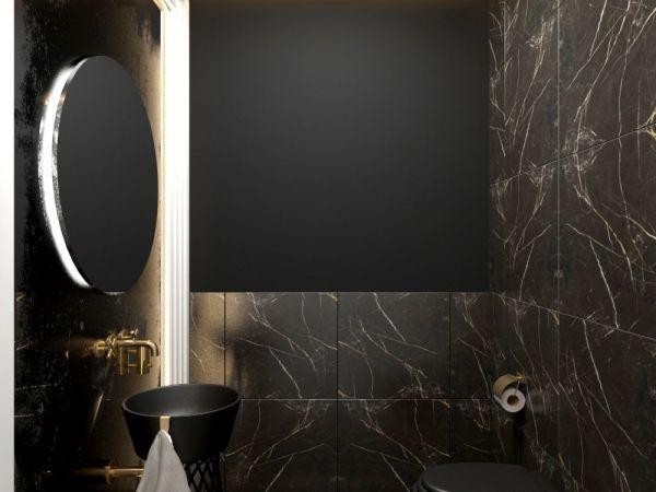 Realizacja sztukaterii listwy ścienne w łazience