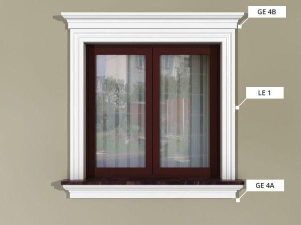 Zestaw sztukaterii okiennej ZSO3
