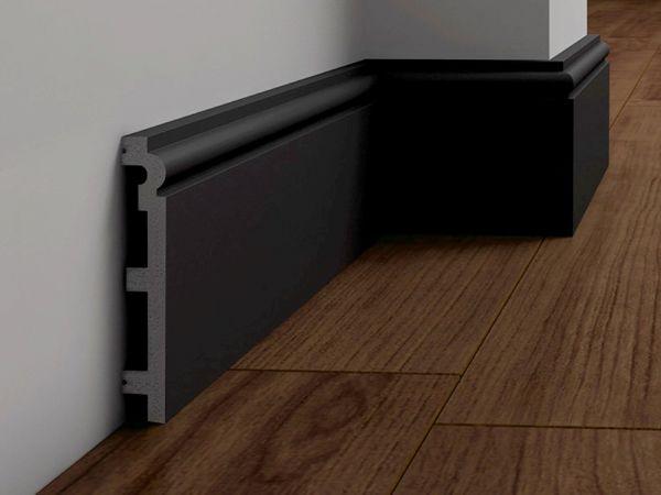 Listwa Przypodłogowa Czarna 12 cm DecorSystem DSP14