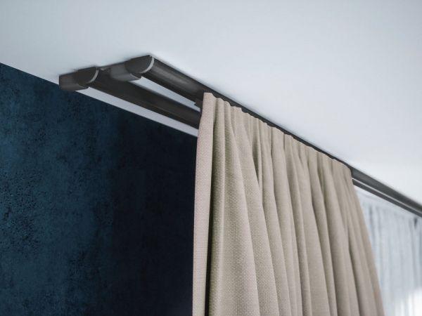 Szyna aluminiowa sufitowa dwutorowa ZD szara