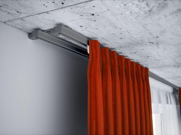 Karnisz sufitowy aluminiowy dwutorowy ZS szary