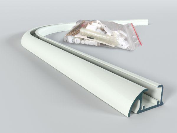 Łuk do szyny aluminiowej ZD 90 st. z kompletem montażowym BIAŁY, CZARNY, SZARY