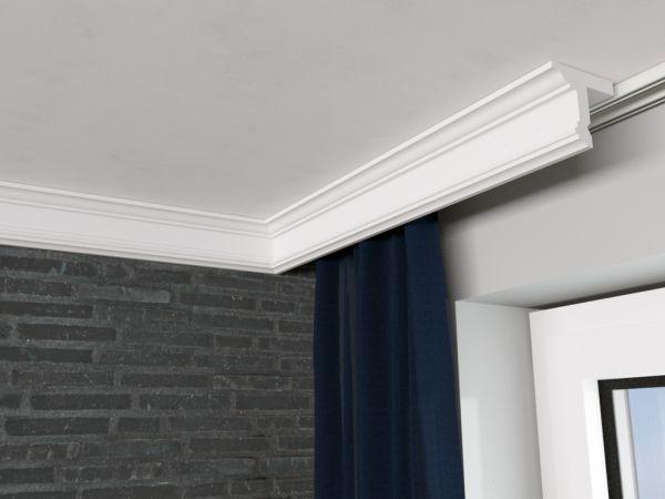 Zestaw listwa maskująca karnisz LKO13 z listwą sufitową LP13